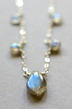 Labradorite necklace sterling silver