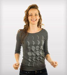 Moon Phases Boatneck Shirt | Women's Clothing |
