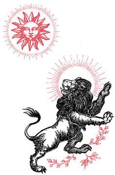 "Image of ""Leo"" Watercolor Print Acab Tattoo, Occult Tattoo, Occult Art, Lion Tattoo, Tattoo Sketches, Tattoo Drawings, Art Drawings, Kunst Tattoos, Religious Tattoos"