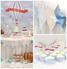 Vintage Hot Air Balloon Birthday Party via Kara's Party Ideas | KarasPartyIdeas.com (2)