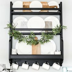 plate racks Fancy Diy Farmhouse Plate Rack Ideas That You Can Do - If you are looking to purchase a new kitchen, then before going to you local DIY store and parting with your money, c Wooden Plate Rack, Plate Rack Wall, Diy Plate Rack, Plate Shelves, Wooden Plates, Plates On Wall, Kitchen Shelves, Wall Racks, This Old House