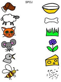 Spojovačky Preschool Phonics, Phonics Worksheets, Free Preschool, Montessori Activities, Preschool Activities, Activities For 2 Year Olds, Printable Activities For Kids, Educational Games For Kids, Teaching English