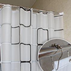 Plaid / flower bathroom shower curtain mildew thick waterproof ribbon buckle send 15 shipping metal hook - eBoxTao, English TaoBao Agent, Purchase Agent. покупка агент