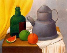 Artista: Fernando Botero. Pineado desde http://www.paisajesybodegones.com/2013/05/bodegones-de-fernando-botero-oleo.html