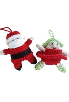 Tiny Santa and Christmas Fairy - Knitting Patterns and Crochet Patterns from KnitPicks.com