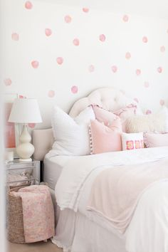 Vinyl Wall Sticker Decal Art Coral Watercolor Polka by urbanwalls