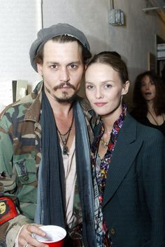 Johnny with Vanessa at a Rolling Stones Concert on November 4th, 2002.
