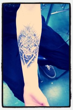Wolf tattoo! I'd want this on a bigger scale on the side of my hip/thigh :)