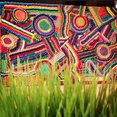 Mardi Gras bead canvas