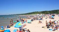 pentwater, mi public beach