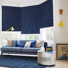 Dark blues and bright yellows -- Living Room Ideas  | Colour Scheme Ideas | Decorating Ideas