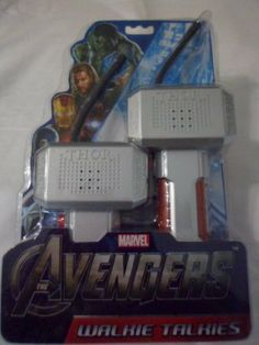 Marvel Avengers Walkie Talkies - THOR by Marvel. $25.00. Each package includes 2 Walkie Talkies.  Each Walkie Talkie requires one 9V battery (not included).