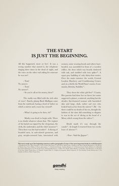 """Gandhi Bookstores: Story II - """"The start is just the beginning"""" / Ogilvy & Mather, Mexico (March 2011)"""