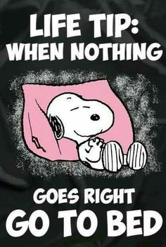 Snoopy Charlie Brown meme Oh yeah. That's good advice. My kind of way to deal with nothing going right. Peanuts Quotes, Snoopy Quotes, Funny Quotes, Life Quotes, Funny Memes, Hilarious, Bed Quotes, Sleep Quotes, Snoopy Love