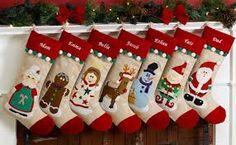 christmas stockings fireplace - Google Search