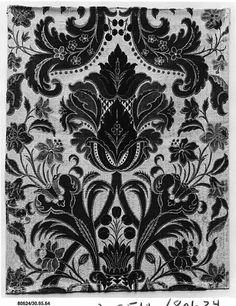 Piece Albergo di Virtù Date: 1716–19 Culture: Italian (Turin) Medium: Silk and metal thread Accession Number: 30.95.64