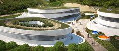 Bioklimatikus Európai Iskola Krétán, a Mérték Stúdió pályázati terve