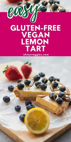This vegan lemon tart is the perfect summery dessert. The creamy lemon filling is bursting with flavor from fresh lemons and maple syrup - all wrapped in a crunchy, crumbly homemade pie crust. Yum! Vegan Baking Recipes, Vegan Desserts, Cold Pasta Dishes, Vegan Whipped Cream, Lemon Filling, Homemade Pie Crusts, Vegan Cookbook, Maple Syrup, Vegan Gluten Free