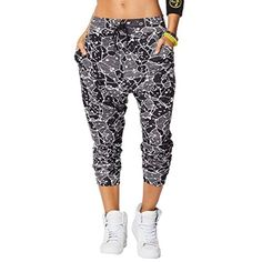 Zumba Womens Be Bold Harem Dance Pants, Back to black, Small - Brought to you by Avarsha.com