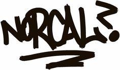 Norcal Hand Style Graffiti JDM Racing | Die Cut Vinyl Sticker Decal | Sticky Addiction