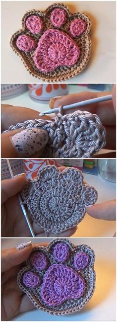 How To Crochet A Supercute Paw Print