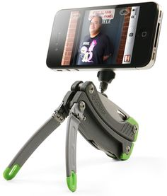 fathers day or stocking stuffer. knife that has tripod for iPhone. (ThinkGeek :: Gerber Tripod Multitool)