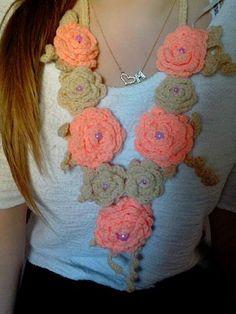 crochet collana collar