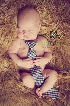 Baby boy with tie= adorable!