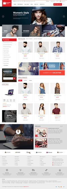 Shoppy Store is Premium full Responsive Magento eCommerce Theme. Test free demo at ThemeForest. Ecommerce Jobs, Web Design, Mega Menu, Newsletter Design, Online Clothing Stores, Website Template, Cool Style, Layout, Cart