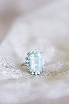 Aquamarine Diamond Ring: http://www.stylemepretty.com/2015/06/17/the-style-me-pretty-brides-guide-to-something-blue/