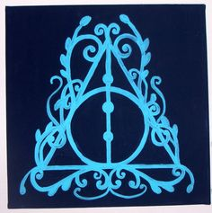 Harry Potter Deathly Hollows Painted Canvas by EmilyKyleHomeDecor