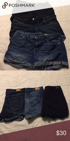 Aeropostale shorts Listed above are 3 aero midi shorts size 14. All worn a few times each but in great condition! Aeropostale Shorts Jean Shorts