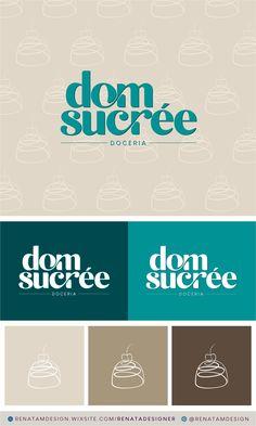 Identity Design, Visual Identity, Brand Identity, Logo Design, Cake Branding, Logo Branding, Sweet Logo, Chocolate Shop, Shop Logo