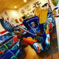 Talavera Spoon Utensil Holder  $35 available at Barrio Antiguo 725 Yale St Houston TX 77007 (713)880 2105 sales@barrioantiguofurniture.com