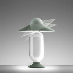 LED table lamp HOLLYG by Giorgio Biscaro, FontanaArte, 2015