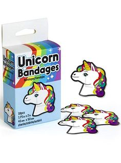 Patched-Up & Pretty Unicorn Boo-Boo Bandages