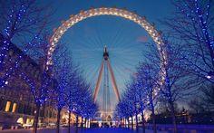London at night...Love the Eye. Amazing views. Miss u London