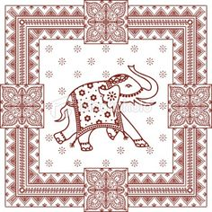elephant hindu vector - Buscar con Google