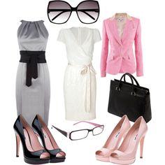 pink blazer 2 ways. professional, created by lindsaybln on Polyvore