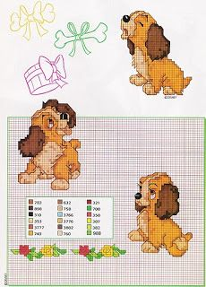 Disney Stitch, Disney Cross Stitch Patterns, Cross Stitch Designs, Cross Stitch Thread, Cross Stitching, Applique Templates Free, Circuit Projects, Lady And The Tramp, Beaded Animals