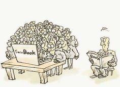 Facebook vs libro