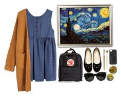 """""""Starry night. ***"""" by starscounter394 on Polyvore featuring moda, Fjällräven, WithChic, Yves Saint Laurent y Marc by Marc Jacobs"""