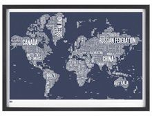 Bold & Noble World Typemap in Slate £65 Free P