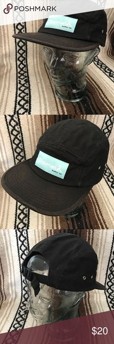 Diamond Supply Co Black 5 Panel Strap Back Hat Diamond Supply Co Black 5 Panel Strap
