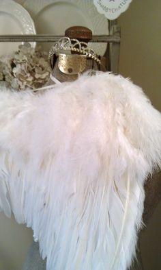 Large Fluffy Romantic Angel Wing
