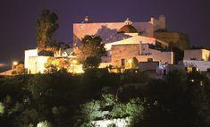 Image result for santa eulalia church night view ibiza Ibiza, Portal, Tourist Information, Website, Santa, Mansions, Night, House Styles, Islands
