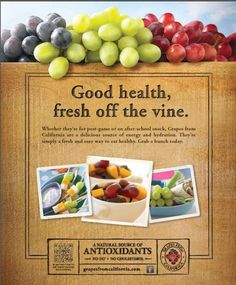 A 3/4 cup of Grapes from California contains just 90 calories, but no fat, no cholesterol and virtually no sodium.