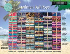 Hoffman Bali Pops by DebsQuiltWorld on Etsy, $32.99