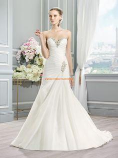 Meerjungfrau Elegante Schlichte Brautkleider aus Organza mit Schleppe