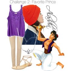 Challenge 2: Favorite Prince - Aladdin by disneycraze6 on Polyvore featuring polyvore fashion style Salsa Pelle Moda Disney Reason